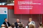 """Buchpreis-Gewinner Frank Witzel beim Börsenverein im Gespräch über """"Die Erfindung""""."""