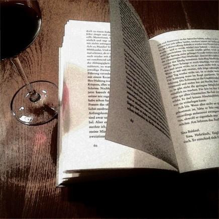 Lieblingsleseort nur mit Wein Bücherherbst