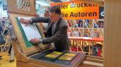 fbm17 Buchmesse buecherherbst buecherblog dbp17 gastland frankreich ehrenpavillon laroui gutenberg druckerpresse 3