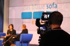 Aunahme Blaues Sofa